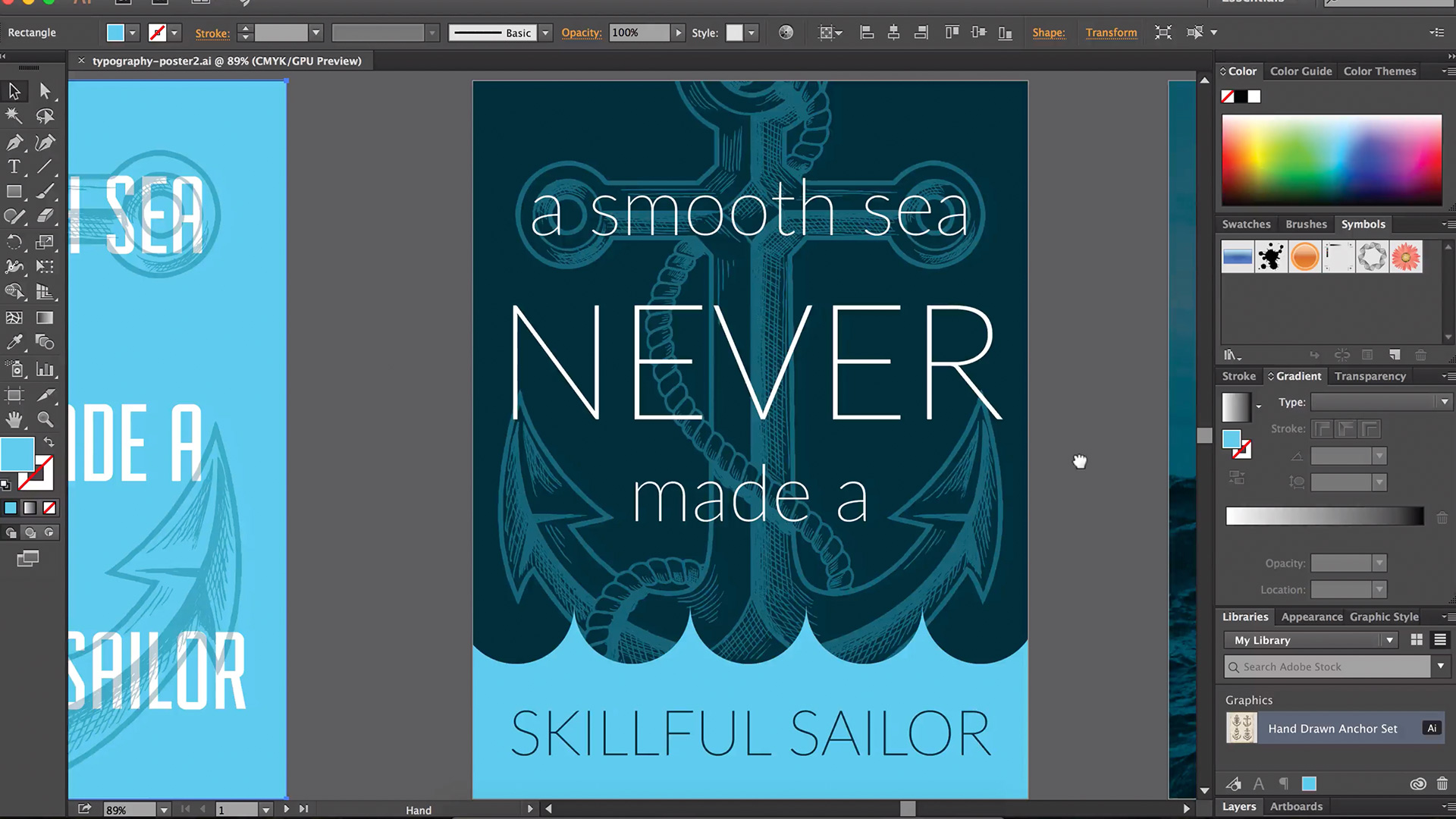 Learn how to make a typography poster with Adobe Illustrator
