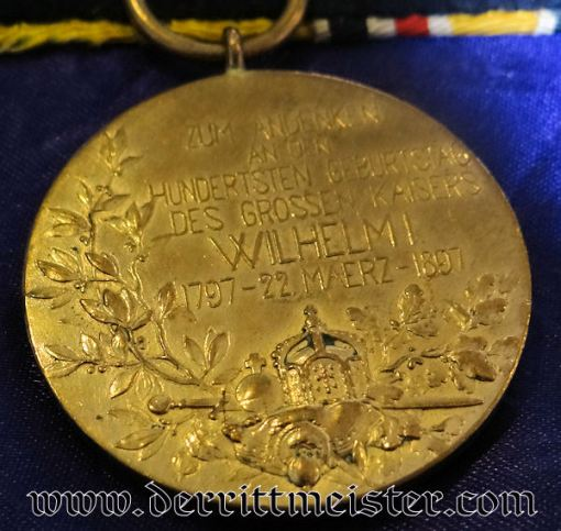 MEDAL BAR - TWO PLACE - CHINESE BOXER REBELLION'S NON COMBATANT - Imperial German Military Antiques Sale