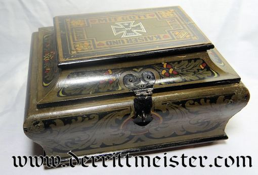 PATRIOTIC BOX - COMMEMORATING KAISER WILHELM II - Imperial German Military Antiques Sale