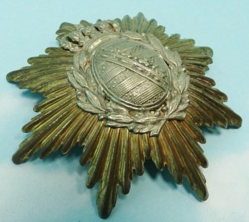 WAPPEN - SAXONY - FOR PICKELHAUBE OR KUEGELHELM  - LINE INFANTERIE OR LINE-ARTILLERIE - Imperial German Military Antiques Sale