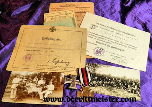 PRUSSIA - NCO'S DOCUMENTS - DECORATIONS - PHOTOGRAPHS - INFANTERIE-REGIMENT Nr 68 - Imperial German Military Antiques Sale