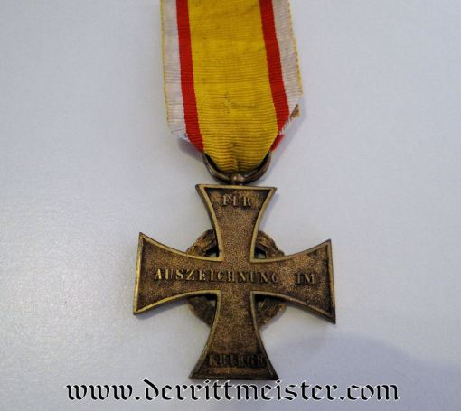 GENERAL MAJOR'S WAR SERVICE CROSS 2nd CLASS DECORATION AND AWARD DOCUMENT - LIPPE-DETMOLD - Imperial German Military Antiques Sale