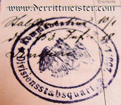 MILITÄRPAß - INFANTERIE-REGIMENT Nr 152 - PRUSSIA - Imperial German Military Antiques Sale