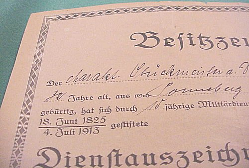 NAVY LONG SERVICE AWARD DOCUMENT - Imperial German Military Antiques Sale
