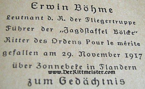 BRIEFER SEINES DEUTSCHEMARK KAMPFFLIEGER AN EON JUNGLES MACHE - ERWIN BOHME - Imperial German Military Antiques Sale