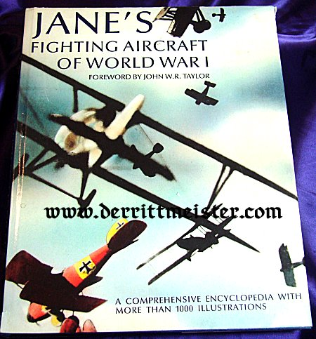 ANE'S FIGHTING AIRCRAFT OF WW I by JOHN W.R. TAYLOR - Imperial German Military Antiques Sale