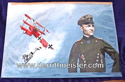 ORIGINAL ARTWORK FROM THE AUTOBIOGRAPHY - THE RED BARON (DER ROTE KAMPFFLIEGER) by BARON MANFRED von RICHTHOFEN - Imperial German Military Antiques Sale