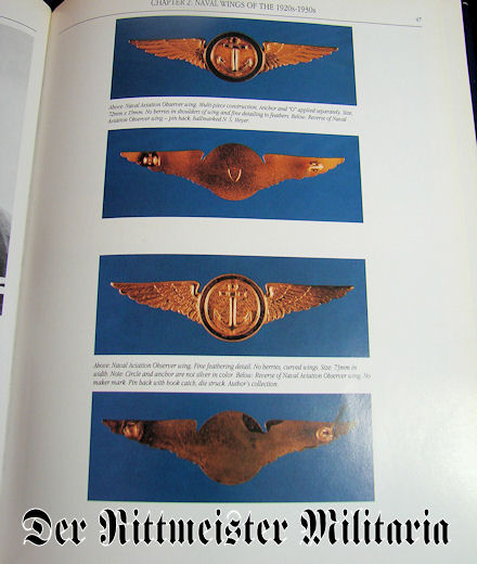 UNITED STATES NAVY WINGS OF GOLD - FROM 1917 TO THE PRESENT by Ron L. WILLIS & THOMAS CARMICHAEL - Imperial German Military Antiques Sale