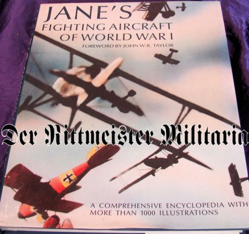 GERMANY - BOOK - JANE'S FIGHTING AIRCRAFT OF WORLD WAR I - Imperial German Military Antiques Sale