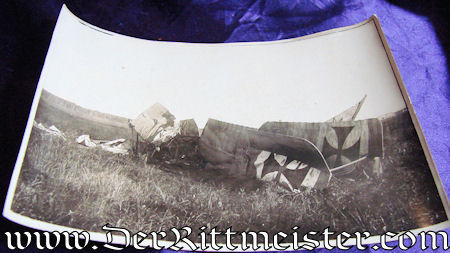 THREE LARGE-FORMAT PHOTOGRAPHS - CRASHED GERMAN AIRPLANES - Imperial German Military Antiques Sale