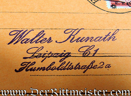 PRE WW I AIRMAIL FLOWN POSTCARD - Imperial German Military Antiques Sale