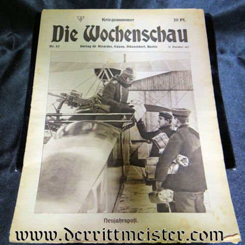 DIE WOCHENSCHAU 29 DECEMBER 1917 - Imperial German Military Antiques Sale