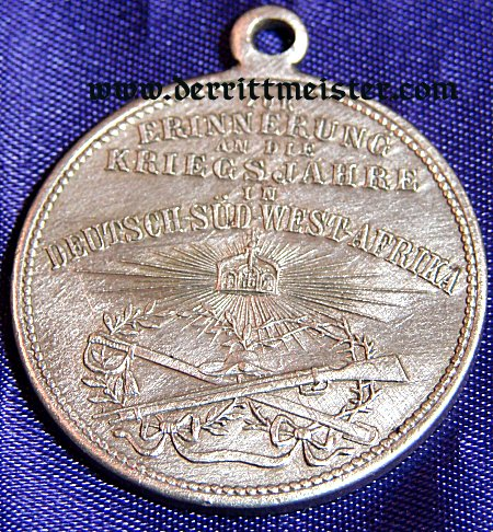 VETERAN'S MEDAL FOR SERVICE IN GERMAN SOUTHWEST AFRICA - Imperial German Military Antiques Sale