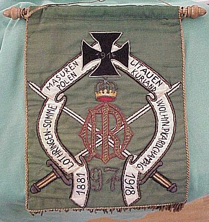 BANNER - VETERANS - Imperial German Military Antiques Sale