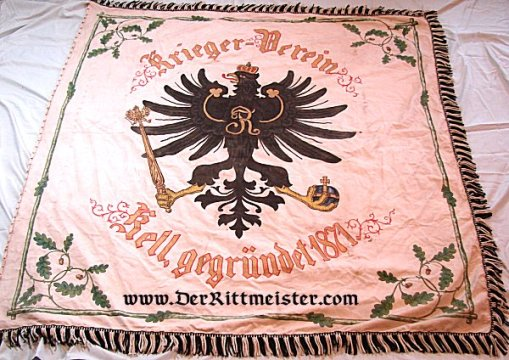 FLAG - VETERAN'S ASSOCIATION - Imperial German Military Antiques Sale
