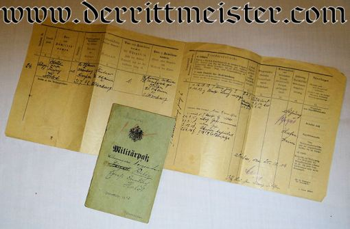 DOCUMENT SET FOR ENLISTED MAN WHO FINISHED WW I AS OFFIZIER-STELLVERTRETER - Imperial German Military Antiques Sale