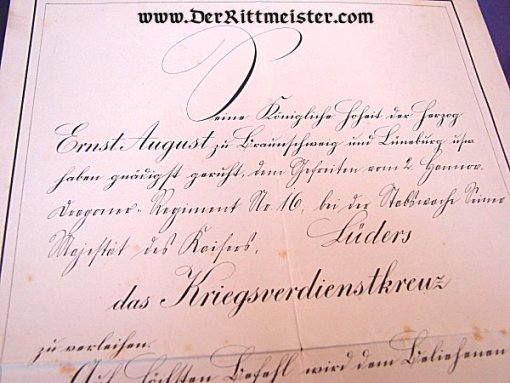 DOCUMENT GROUP - FELDWEBEL LÜDERS - Imperial German Military Antiques Sale
