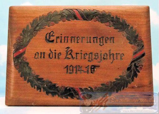 HAND CARVED GERMAN PATRIOTIC BOX - Imperial German Military Antiques Sale