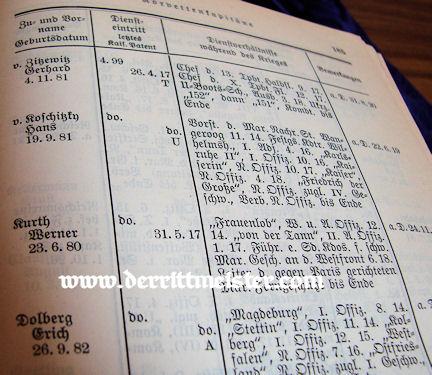 PRUSSIA - EHRENRANGLISTE DER KAISERLICHE DEUTSCHEN MARINE - 1914-1918 - Imperial German Military Antiques Sale