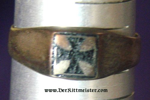 PATRIOTIC IRON CROSS RING