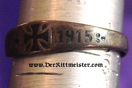 PATRIOTIC RING - IRON CROSS 1914 - Imperial German Military Antiques Sale