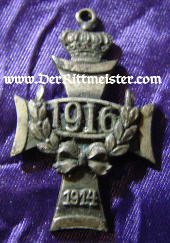 PATRIOTIC PENDANT FEATURING IRON CROSS AND DATES 1914 AND 1916