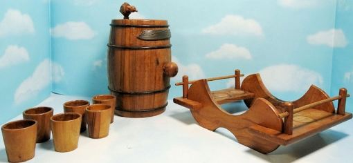 SPECIAL DRINKING SET WITH ZEPPELIN MOTIF - Imperial German Military Antiques Sale