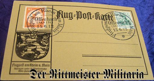 GERMANY - POSTCARD - ZEPPELIN - FLUG=POST=KARTE - Imperial German Military Antiques Sale