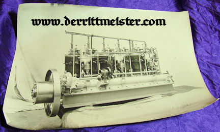 GERMANY - PHOTOGRAPH - ZEPPELIN ENGINE - LARGE-FORMAT - Imperial German Military Antiques Sale