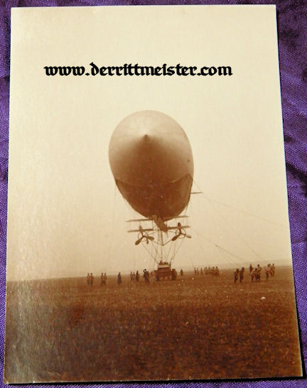 ORIGINAL PHOTOGRAPH - UNIDENTIFIED ZEPPELIN - Imperial German Military Antiques Sale