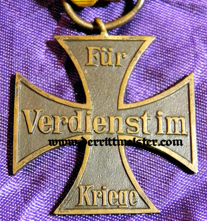 1914 WAR SERVICE CROSS 2nd CLASS - NON COMBATANT - BRAUNSCHWEIG - Imperial German Military Antiques Sale