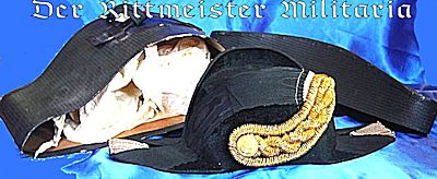PRUSSIA - FORE AND AFT CAP IN ORIGINAL STORAGE CASE - OFFICER - RESERVE NAVY - Imperial German Military Antiques Sale
