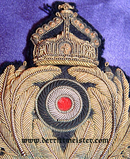 NAVY OFFICER'S VISOR CAP BADGE - KAISERLICHE MARINE - Imperial German Military Antiques Sale