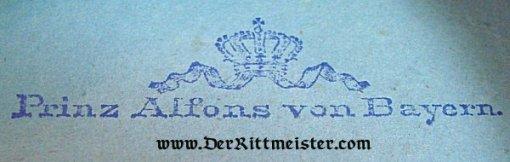 BAVARIA - EPAULETTES - MAJOR - PRINZ ALFONS - 1. SCHWERES-REITER-REGIMENT - Imperial German Military Antiques Sale