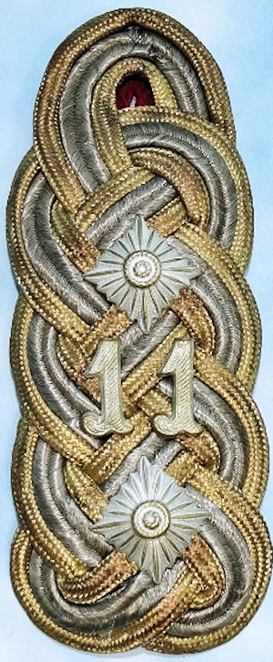BAVARIA - SHOULDER BOARD - GENERAL der INFANTERIE - LUDWIG SAMSON ARTHUR FREIHERR von UND zu der TANN-RATHSAMHAUSEN - Imperial German Military Antiques Sale