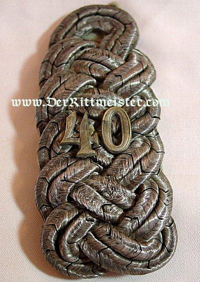 PAIR OF EPAULETTES FOR AN OBERSTABSINGENIEUR - KAISERLICHE MARINE - Imperial German Military Antiques Sale