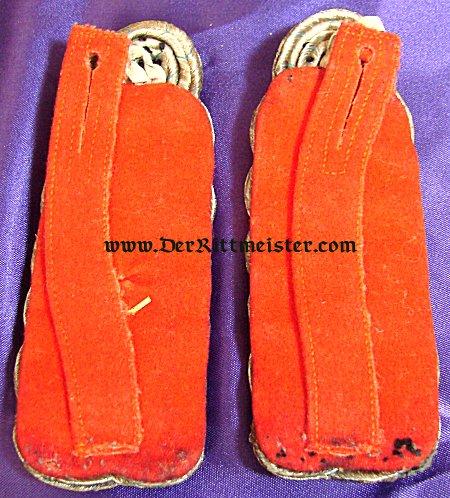 BAVARIA - SHOULDER BOARDS - MAJOR - INFANTERIE-REGIMENT Nr 8 - Imperial German Military Antiques Sale