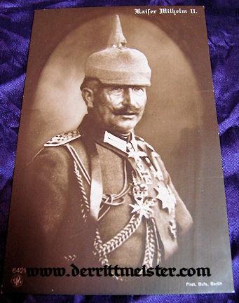 POSTCARD - KAISER WILHELM II - Imperial German Military Antiques Sale