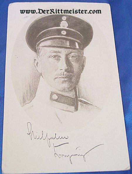 POSTCARD - CROWN PRINCE WILHELM - PRUSSIA - Imperial German Military Antiques Sale