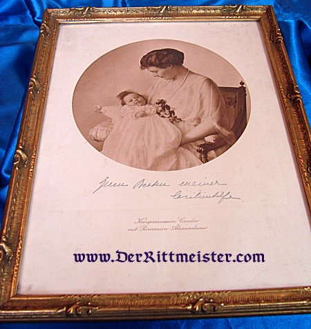 FRAMED PHOTOGRAPH - PRINCESS CECILIE AND HER DAUGHTER - Imperial German Military Antiques Sale