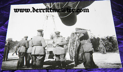 LARGE-FORMAT ORIGINAL PHOTOGRAPH - OBSERVATION BALLOON - Imperial German Military Antiques Sale