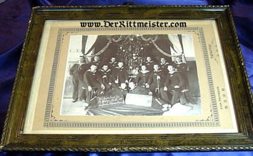 FRAMED PHOTO - NAVY SAILORS - CHRISTMAS 1906 - CHINA - Imperial German Military Antiques Sale
