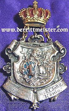 BAVARIA -  VETERAN'S BADGE - INFANTERIE-REGIMENT Nr 1 - Imperial German Military Antiques Sale