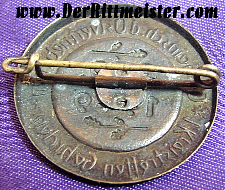 GERMANY - BADGE - MISCELLANEOUS - 1949 - Imperial German Military Antiques Sale