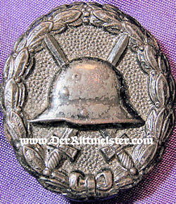 GERMANY - ARMY WOUND BADGE - BLACK - Imperial German Military Antiques Sale