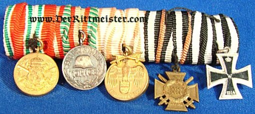 AUSTRIA / HUNGARY / BULGARIA - MEDAL BAR - FIVE-PLACE - MINIATURE - Imperial German Military Antiques Sale