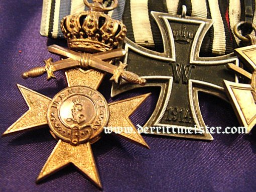 MEDAL BAR - FIVE PLACE - Imperial German Military Antiques Sale