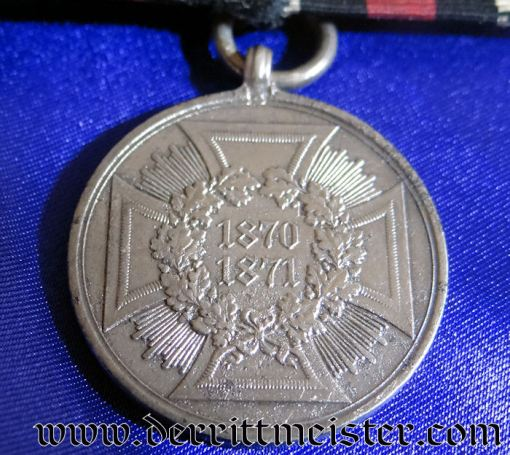MEDAL BAR -ONE PLACE - 1870-1871 NON COMBATANTS WAR MEDAL - Imperial German Military Antiques Sale
