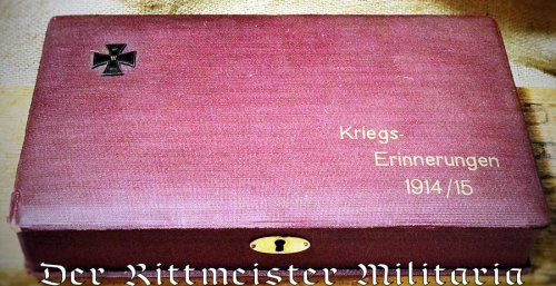 "GERMANY - PATRIOTIC BOX - ""Kriegs - Erinnerungen 1914/15"" - Imperial German Military Antiques Sale"
