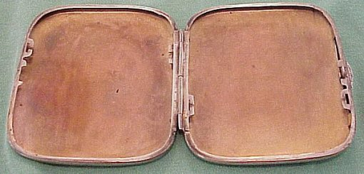 GERMANY - CIGARETTE CASE - commemorating Weihnachten (Christmas) 1916 - Imperial German Military Antiques Sale